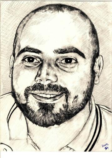 A Sketch Art Piece by Brian Kawesa for a Client