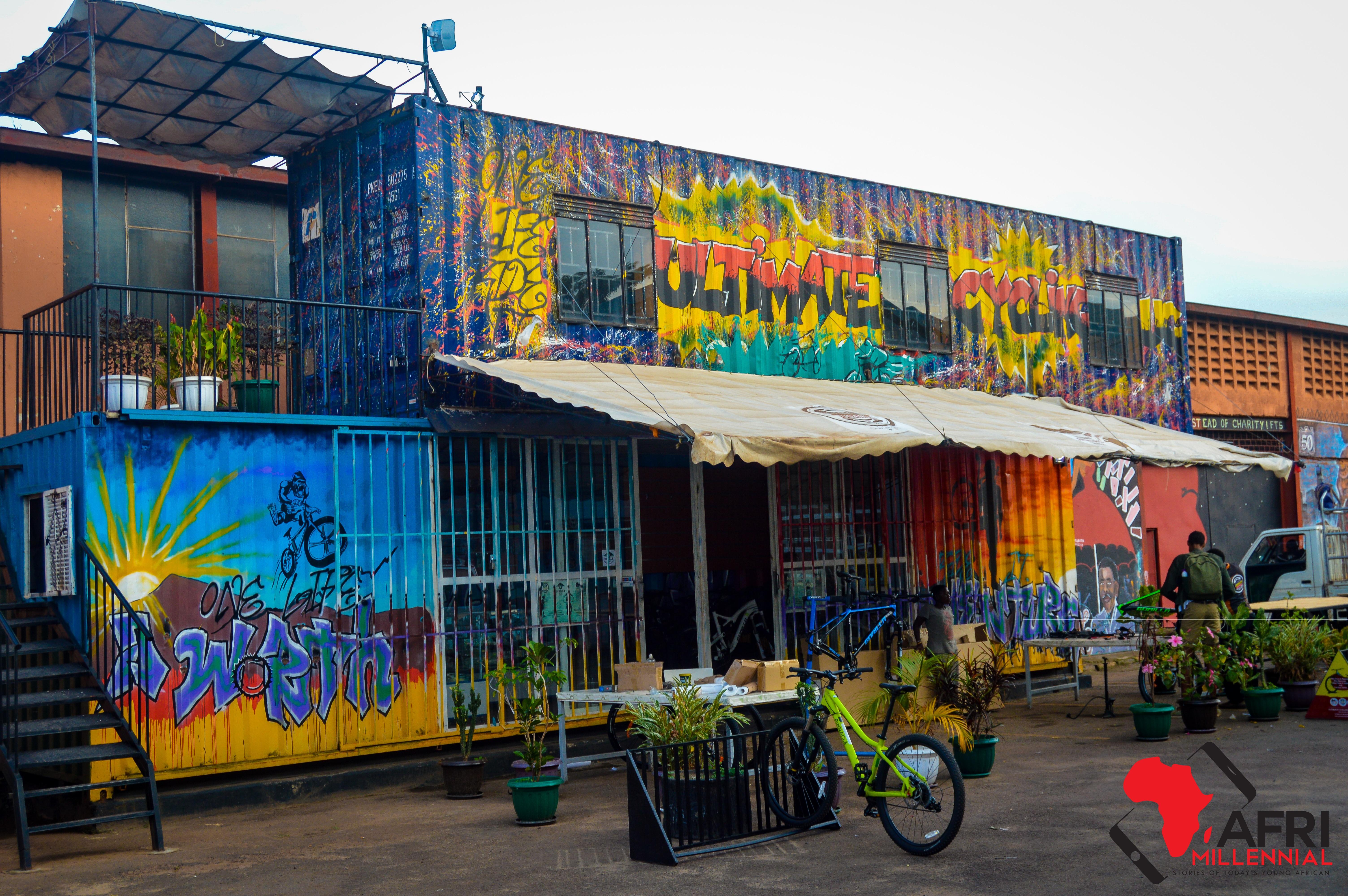 Grafitti painting by Matt Kayem at Design Hub Kampala